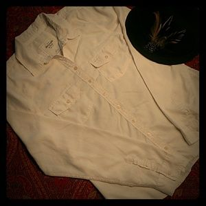 Abercrombie and Fitch cream blouse
